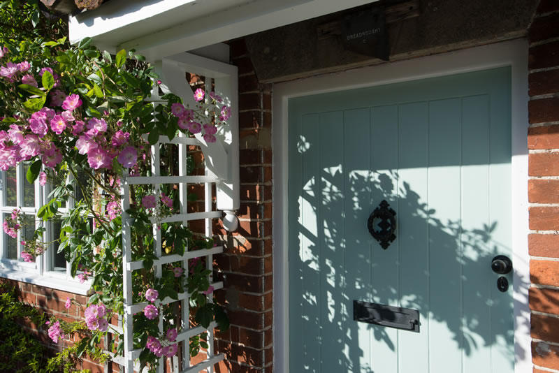 front door at Dreadnought holiday home