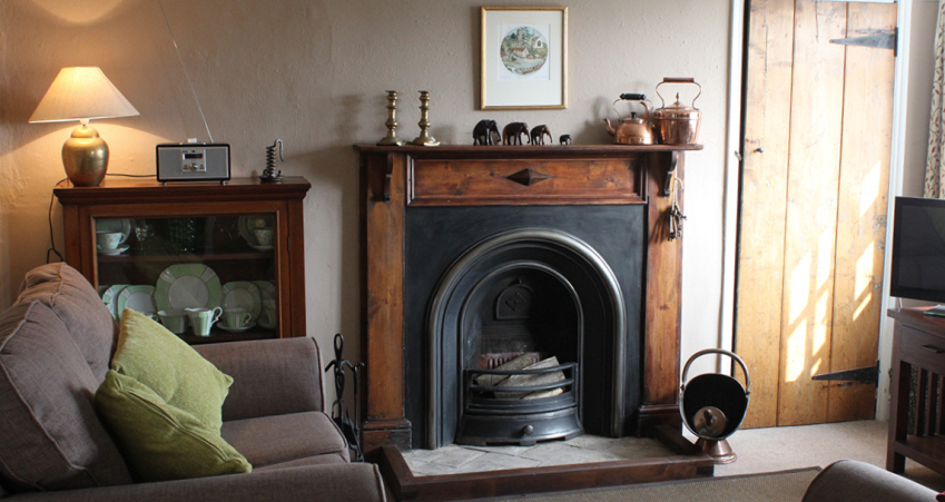 cosy sitting room at 9 hill cottage near Southwold