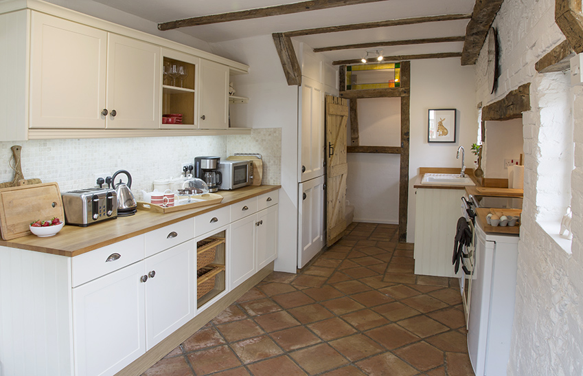 full kitchen view at country cottage Dreadnought