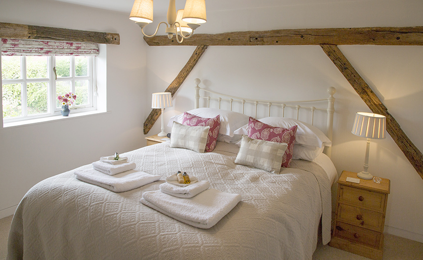 comfortable double bedroom at Dreadnought holiday cottage