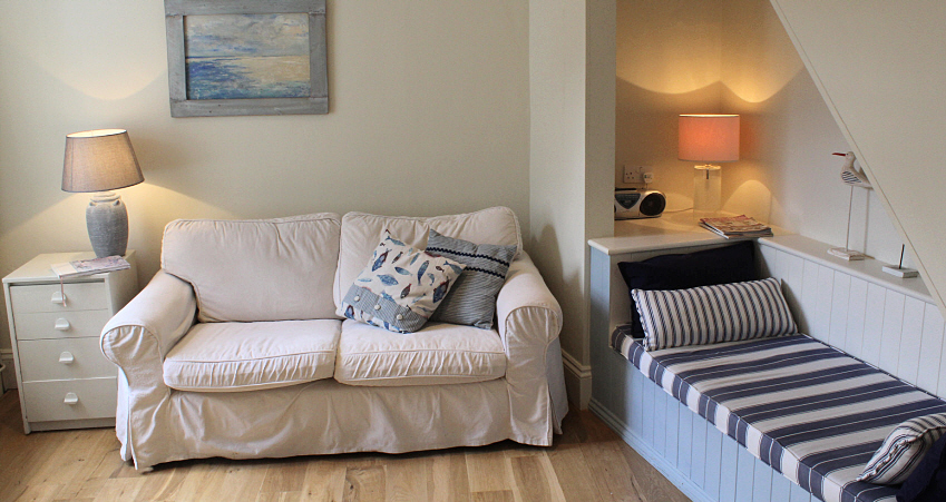 Cosy sitting area at Victoria street cottage Southwold