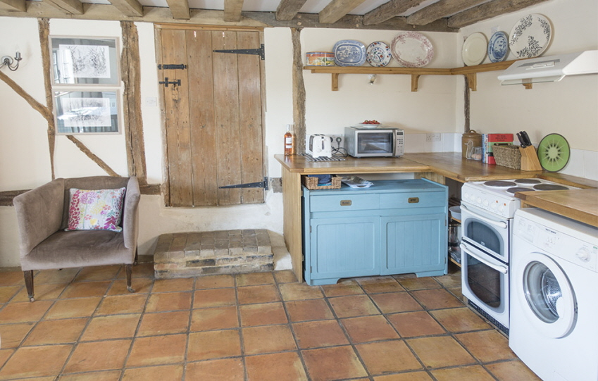 Well-equipped kitchen at Leman Cottage, Suffolk