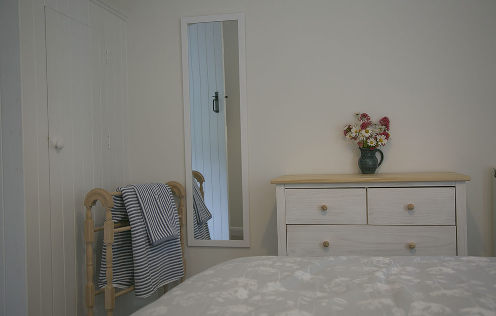 Double bedroom at Eva's holiday cottage, Suffolk