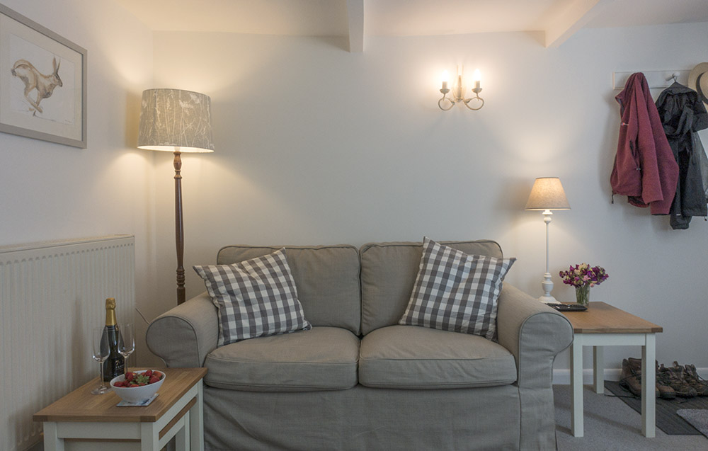 Cosy sitting room at Eva's holiday cottage in Suffolk
